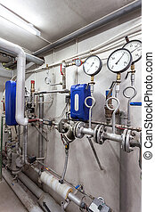 Heating pipes system