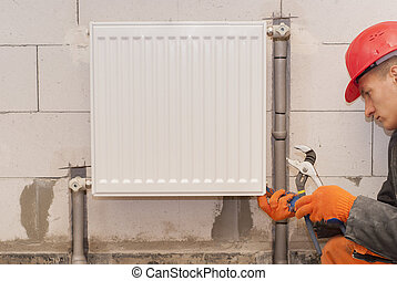 heating radiator installation