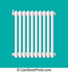 Heating radiator. Retro heating system. Vector illustration ...