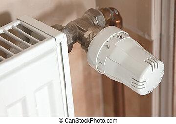 Heating radiator with regulator - the heating radiator with...