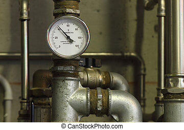 Heating system manometer
