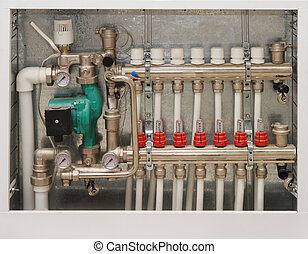 Heating system of the house. Close up