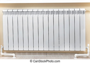 Heating white radiator radiator. - Heating white radiator...