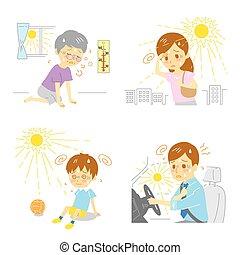 Heatstroke Heat exhaustion - heatstroke, heat exhaustion,...