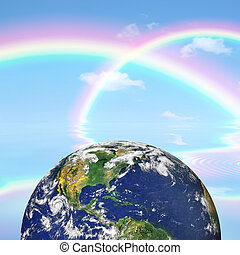 Heaven and Earth Beauty - Planet earth against a background...