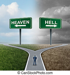 Heaven And Hell - Heaven and hell crossroad life choice as a...