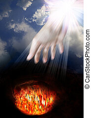 Heaven and Hell.belief in a God that loves all humans