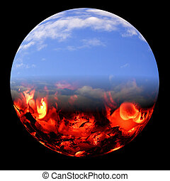 Heaven and Hell - A fantasy world depicting Heaven and Hell