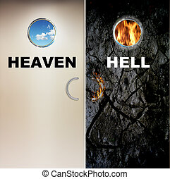Heaven and Hell - two doors to heaven and hell