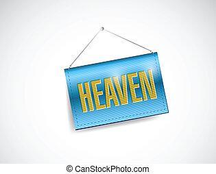 heaven hanging banner illustration design