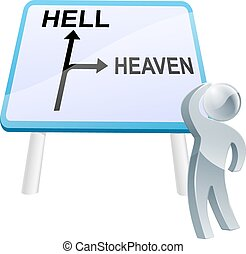 Heaven or hell sign
