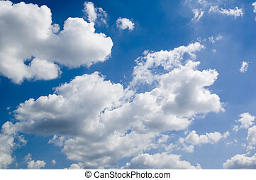 heaven - leaden clouds. grey clouds and blue sky