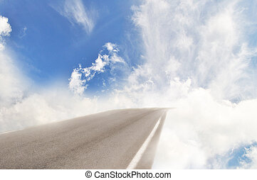 Heaven road turn into clouds