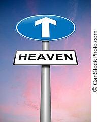 Heaven sign concept.