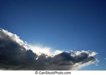 Heaven - cloud on blue sky