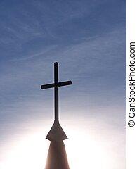 Heaven - Sunlight behind cross