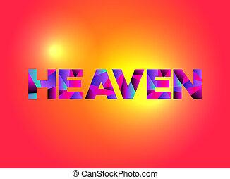 Heaven Theme Word Art Illustration