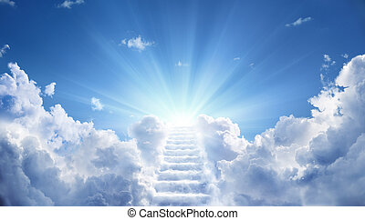heavenly, 先導, 空, の上, ∥に向かって∥, 階段, ライト