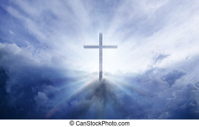 Heavenly Cross - A transparent Cross giving out heavenly...