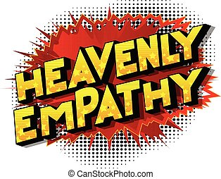 Heavenly Empathy - Vector illustrated comic book style...