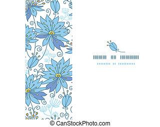 Heavenly flowers horizontal seamless pattern background