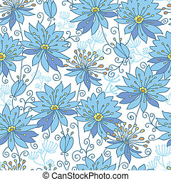 Heavenly flowers seamless pattern background - Vector...