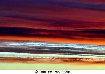 Heavenly landscape in scarlet