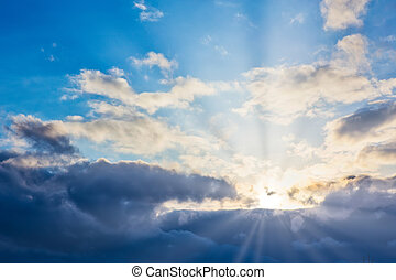 Heavenly Landscape with Beautiful Clouds