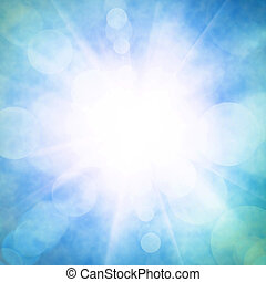 Heavenly Sky - Heavenly blue sky with bright sunshine and ...