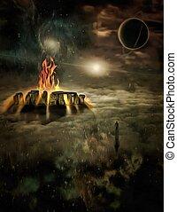 Heavenly temple of Eternal fire