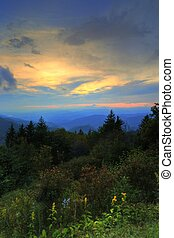 Heavens Above Blue Ridge Mountains - The heavens open their...