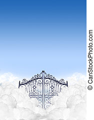 Heavens Gates In The Clouds - A depiction of the gates to...
