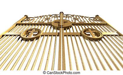 Heavens Golden Gates Isolated