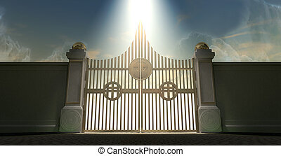 Heavens Golden Pearly Gates - The pearly gates of heaven...