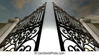 Heavens Open Ornate Gates