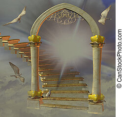 heaven's, puerta