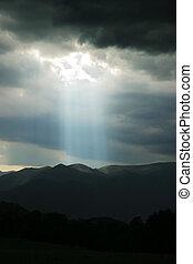Heavens spotlight - Storm in Colorado