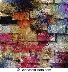 Heavily Textured Digital Abstract Painting