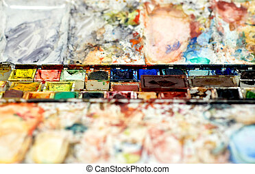 Heavily used Watercolor box