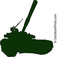 Heavy Battle Tank - Heavy battle tank stands in front of the...