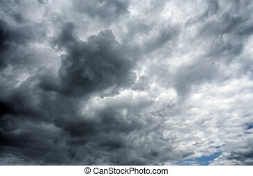 Heavy  black stormy clouds