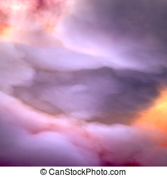 Heavy Clouds, dramatic sky