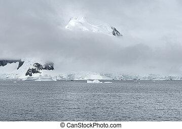 Heavy Clouds Over Paradise Harbor, Antarctica