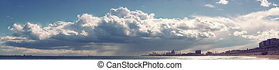 Heavy clouds over the Sea