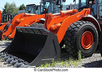 Heavy dozer - New, shiny and modern orange dozer machine....