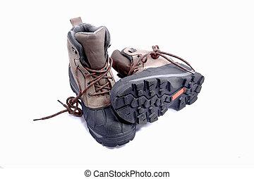 heavy duty boots isolated