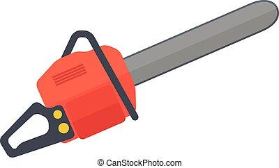 Heavy duty chainsaw - A heavy duty chainsaw used to cut, ...