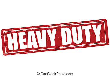 Heavy duty - Stamp with text heavy duty inside, vector...