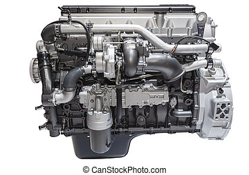 Heavy duty diesel engine - Modern six cylinder heavy duty...