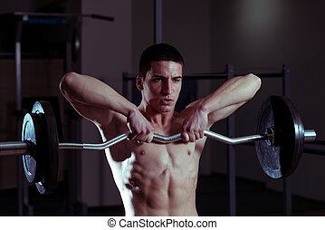Heavy Duty - Handsome Bodybuilder Workout At The Gym